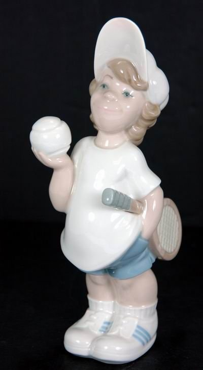 356: RARE LLADRO TENNIS PLAYER PUPPET