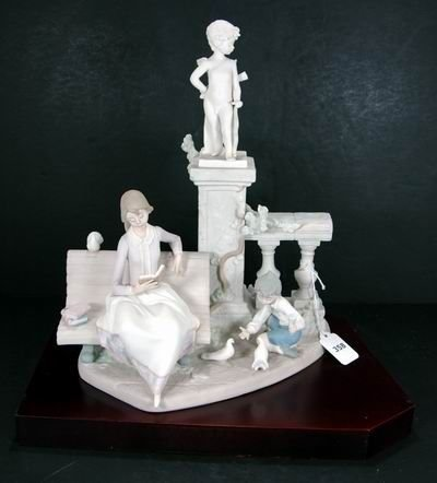358: RARE LLADRO STUDYING IN THE PARK 5425 MINT