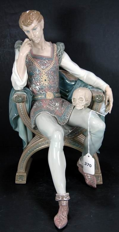 370: RARE LLADRO REFLECTIONS OF HAMLET 1455 MINT