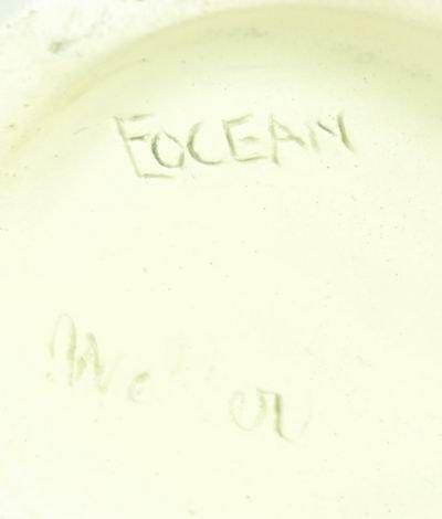 10: WELLER EOCEAN VASE WITH CRANES - 5