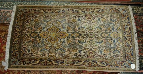 301L: SILK  ESFAHAN 1935 EMBROIDERED DATE IN RUG