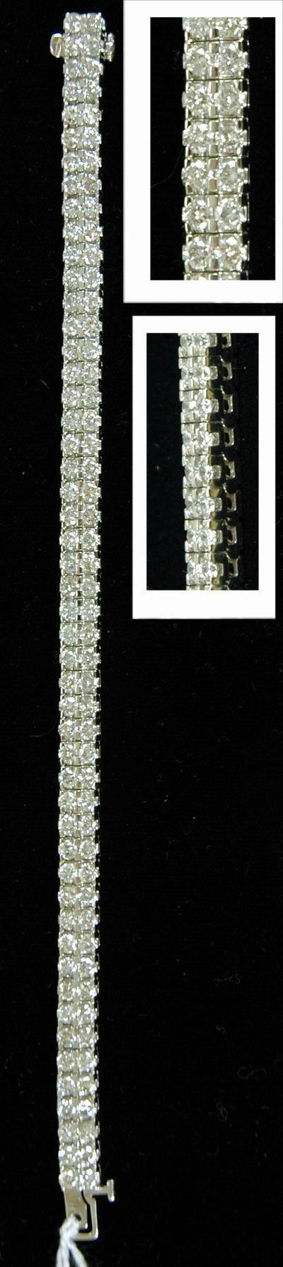 320E: 10.00CT 18KT WHITE GOLD DIAMOND BRACELET