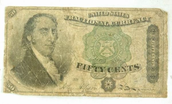 601B: 1801 FRACTIONAL FIFTY CENT NOTE