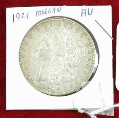 601Q: 1921 MORGAN SILVER DOLLAR AU