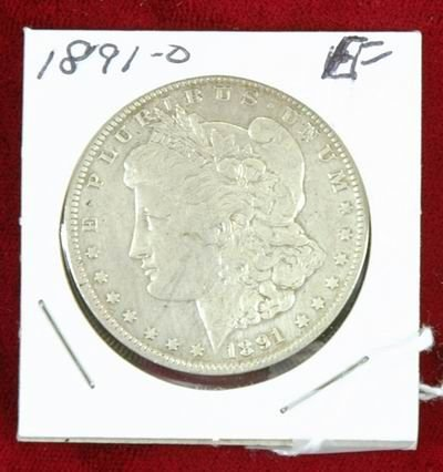 601M: 1891 MORGAN SILVER DOLLAR EF
