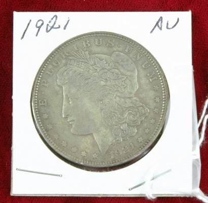 601J: 1921 MORGAN SILVER DOLLAR AU