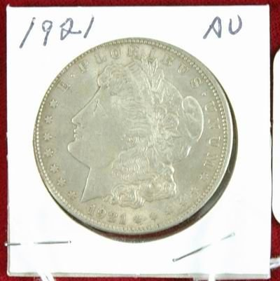 601L: 1921 MORGAN SILVER DOLLAR AU