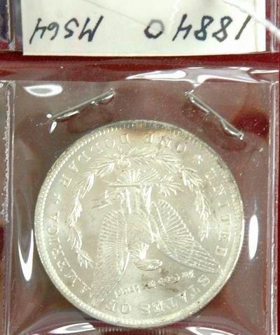 601I: 1884 MORGAN SILVER DOLLAR MS64 - 2