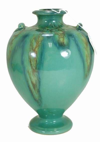 13: WELLER TURKIS BLUE DRIP FACTORY LAMP BASE