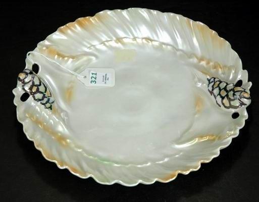 321: ROYAL BAYREUTH MUREX SHELL SATIN CAKE PLATE