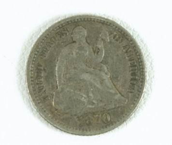 21: RARE 1870 US HALF DIME FAIR CONDITION