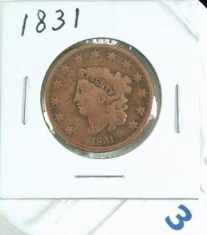 3: 1831 LARGE US 1831 ONE CENT  PIECE VERY GOOD CONDITI