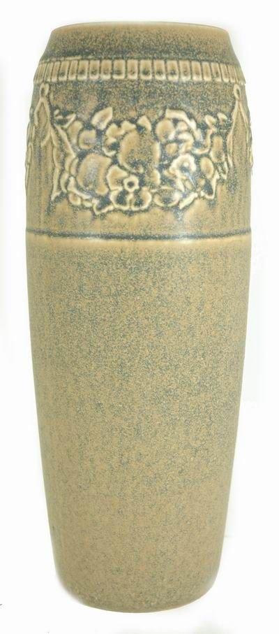 407: ROOKWOOD LARGE 1923 FLORAL DESIGN VASE