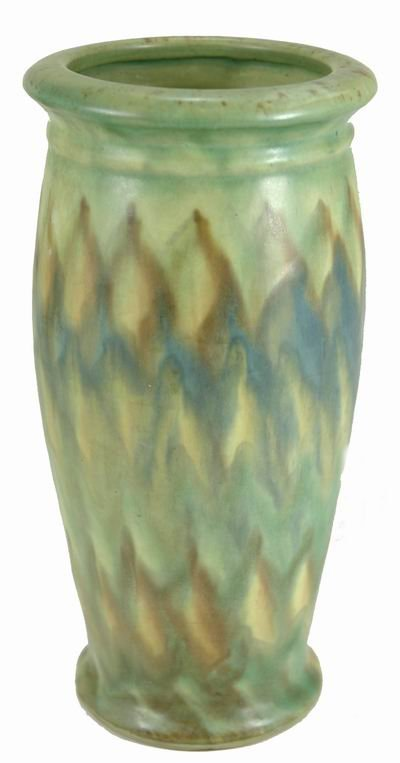 414: PETERS AND REED 8 INCH LANDSUN VASE