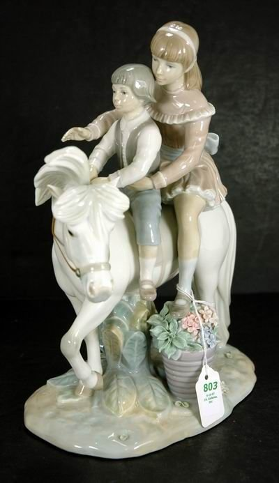 803: LLADRO PONY RIDE FIGURE