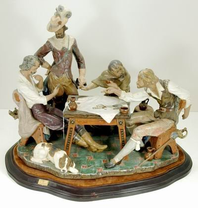 824: EXTREMELY RARE LLADRO PLAYING CARDS 1327