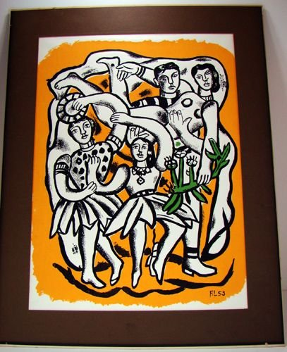 241: LARGE LEGERE LITHO ARTIST SIGNED AND NUMBERED
