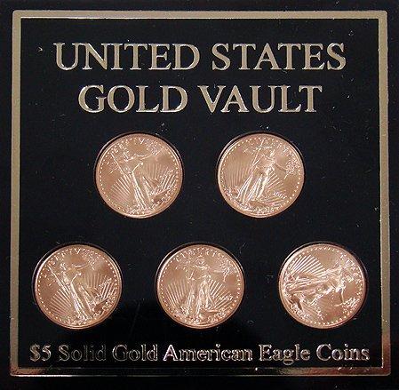 417: 2007 FIVE DOLLAR GOLD LIBERTY COIN SET