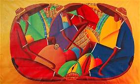 573: BUSTAMANTE AND BAZILE JAMAICAN PAINTING