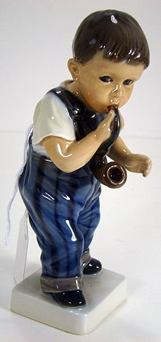 13: DAHL JENSEN FIGURE OF BOY WITH A PIPE