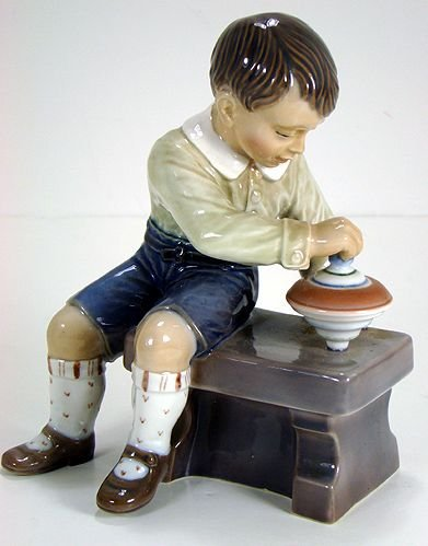 17: DAHL JENSEN FIGURE OF BOY WITH A TOP