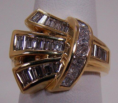 809: 18KT Y.G CUSTOM 2.50CT DIAMOND RING