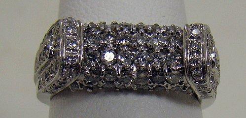 804: 14KT W.G 1.50CT PAVE DIAMOND RING