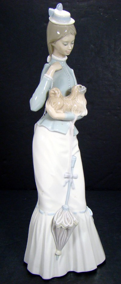 401A: LLADRO WALK WITH THE DOG RETIRED 4893