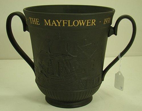 419: ROYAL DOULTON MAYFLOWER LOVING CUP