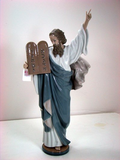 810: LLADRO DESIREABL MOSES 5170 EXCELLENT 17 INCHES