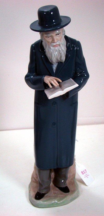 817: RARE NAO OF A RABBI 12 INCHES TALL