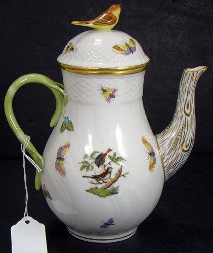 1216: HEREND ROTHSCHILD BIRD TEA POT