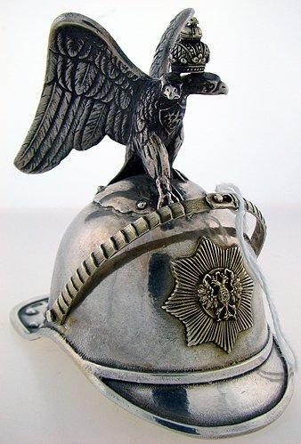 407:  19TH CENTURY RUSSIAN STERLING SILVER SALT  HELMET