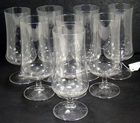 820: SET OF 8 SIGNED BACCARAT PARFAIT GOBLETS 7 INCHES
