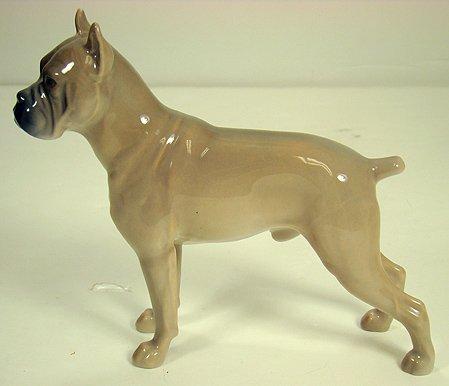 1211: BING AND GRONDAHL BOXER DOG FIGURE