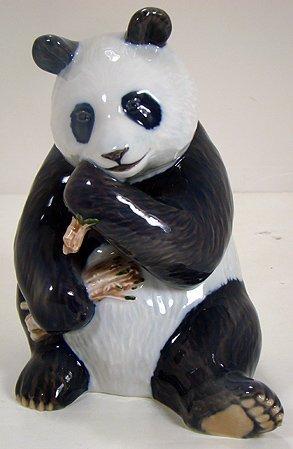 1221: ROYAL COPENHAGEN  PANDA EATING FIGURE