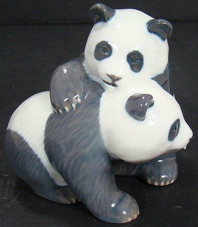 1222: ROYAL COPENHAGEN PANDAS PLAYING FIGURE