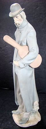 23: LLADRO OLD MAN WITH A VIOLIN 4622 EXCELLENT
