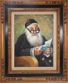 445: RABBI PORTRAIT SIGNED BOSSANOVICH