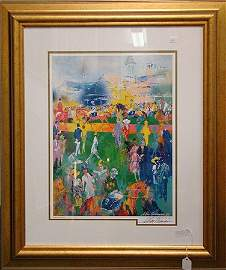 """425: NEIMAN """"THE PADDOCK AT CHURCHILL DOWNS"""", LITHOGR"""