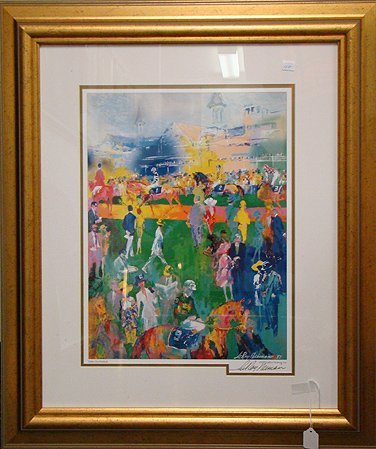 "425: NEIMAN ""THE PADDOCK AT CHURCHILL DOWNS"", LITHOGR"