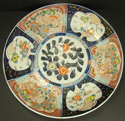 316: LARGE ANTIQUE IMARI CHARGER 15 INCHES