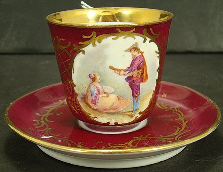 606: ROYAL VIENNA CUP AND SAUCER