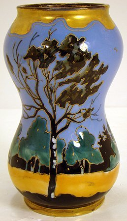 683: TURN TEPLITZ  ART DECO SCENIC VASE