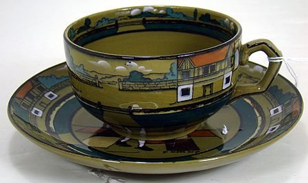 1217: BUFFALO POTTERY DELDARE CUP AND SAUCER
