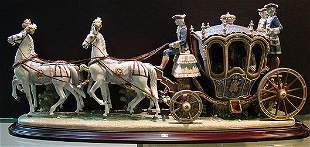 1050: LLADRO RARE 18TH CENTURY COACH LIMITED TO 500