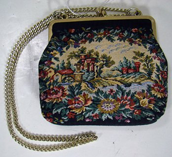 15: VINTAGE HAND DONE TAPESTRY PURSE