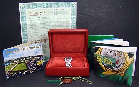 77: LADIES S/S ROLEX DATEJUST BOX AND PAPERS