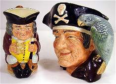 436 2 LARGE ROYAL DOULTON TOBY JUGS