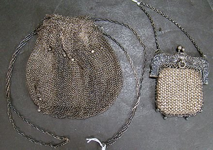 311: LOT OF 2 SILVER MESH BAGS